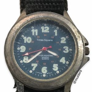 Vintage Times Square Water Resistant Wrist Watch